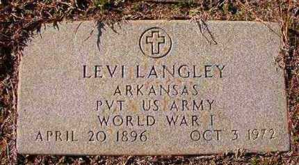 LANGLEY (VETERAN WWI), LEVI - Dallas County, Arkansas | LEVI LANGLEY (VETERAN WWI) - Arkansas Gravestone Photos