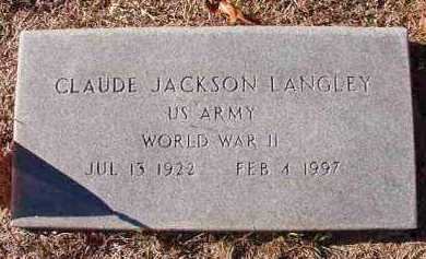 LANGLEY (VETERAN WWII), CLAUDE JACKSON - Dallas County, Arkansas | CLAUDE JACKSON LANGLEY (VETERAN WWII) - Arkansas Gravestone Photos