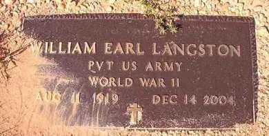LANGSTON (VETERAN WWII), WILLIAM EARL - Dallas County, Arkansas | WILLIAM EARL LANGSTON (VETERAN WWII) - Arkansas Gravestone Photos