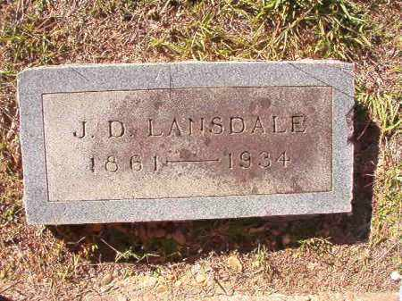 LANSDALE, J D - Dallas County, Arkansas | J D LANSDALE - Arkansas Gravestone Photos