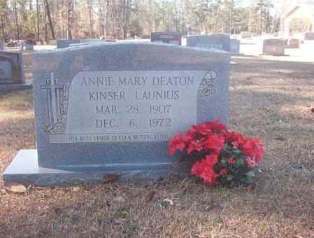 DEATON KINSER LAUNIUS, ANNIE MARY - Dallas County, Arkansas | ANNIE MARY DEATON KINSER LAUNIUS - Arkansas Gravestone Photos