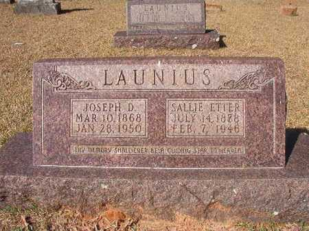 LAUNIUS, JOSEPH D - Dallas County, Arkansas | JOSEPH D LAUNIUS - Arkansas Gravestone Photos