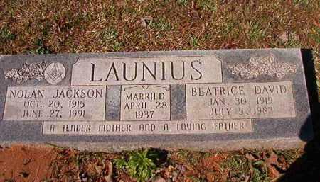 LAUNIUS, BEATRICE DAVID - Dallas County, Arkansas | BEATRICE DAVID LAUNIUS - Arkansas Gravestone Photos