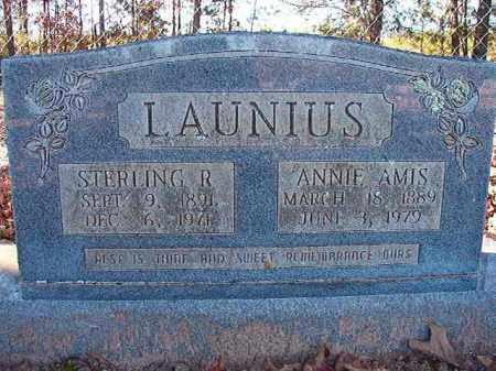 LAUNIUS, STERLING R - Dallas County, Arkansas | STERLING R LAUNIUS - Arkansas Gravestone Photos