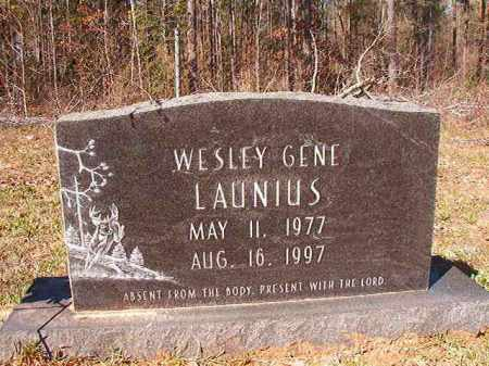 LAUNIUS, WESLEY GENE - Dallas County, Arkansas | WESLEY GENE LAUNIUS - Arkansas Gravestone Photos