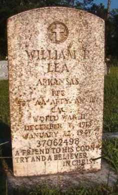 LEA (VETERAN WWII), WILLIAM R - Dallas County, Arkansas   WILLIAM R LEA (VETERAN WWII) - Arkansas Gravestone Photos