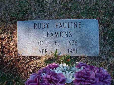 LEAMONS, RUBY PAULINE - Dallas County, Arkansas | RUBY PAULINE LEAMONS - Arkansas Gravestone Photos