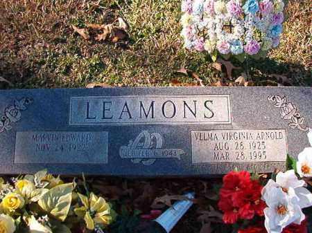 ARNOLD LEAMONS, VELMA VIRGINIA - Dallas County, Arkansas | VELMA VIRGINIA ARNOLD LEAMONS - Arkansas Gravestone Photos
