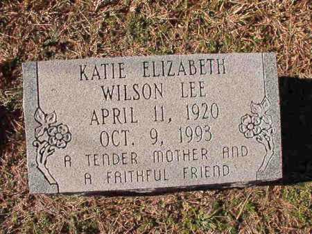 LEE, KATIE ELIZABETH - Dallas County, Arkansas | KATIE ELIZABETH LEE - Arkansas Gravestone Photos