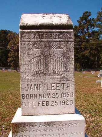 LEETH, JANE - Dallas County, Arkansas | JANE LEETH - Arkansas Gravestone Photos