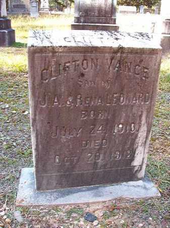 LEONARD, CLIFTON VANCE - Dallas County, Arkansas | CLIFTON VANCE LEONARD - Arkansas Gravestone Photos
