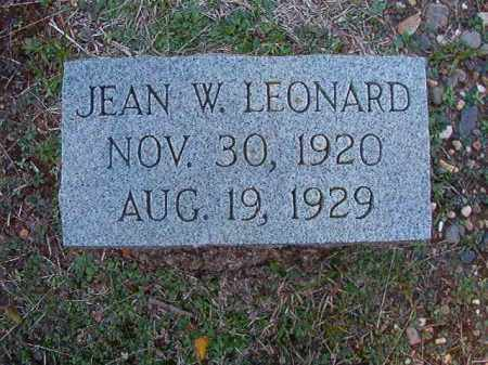 LEONARD, JEAN W - Dallas County, Arkansas | JEAN W LEONARD - Arkansas Gravestone Photos