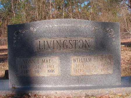 LIVINGSTON, WILLIAM DURDEN - Dallas County, Arkansas   WILLIAM DURDEN LIVINGSTON - Arkansas Gravestone Photos