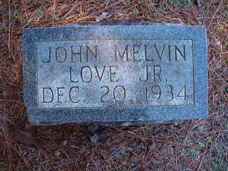 LOVE, JR, JOHN MELVIN - Dallas County, Arkansas | JOHN MELVIN LOVE, JR - Arkansas Gravestone Photos