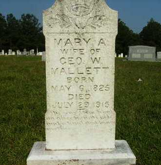 MALLETT, MARY A - Dallas County, Arkansas   MARY A MALLETT - Arkansas Gravestone Photos