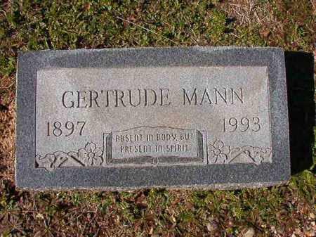 MANN, GERTRUDE - Dallas County, Arkansas | GERTRUDE MANN - Arkansas Gravestone Photos