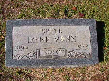 MANN, IRENE - Dallas County, Arkansas   IRENE MANN - Arkansas Gravestone Photos