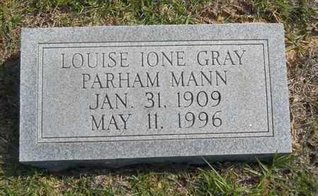 MANN, LOUISE IONE - Dallas County, Arkansas | LOUISE IONE MANN - Arkansas Gravestone Photos