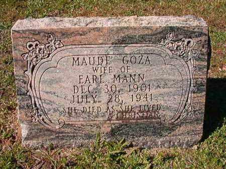 GOZA MANN, MAUDE - Dallas County, Arkansas   MAUDE GOZA MANN - Arkansas Gravestone Photos