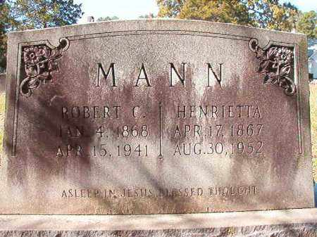 MANN, ROBERT C - Dallas County, Arkansas   ROBERT C MANN - Arkansas Gravestone Photos