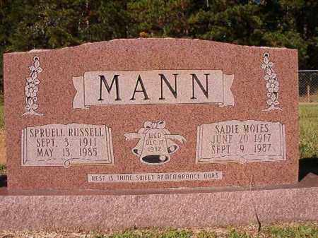 MANN, SADIE - Dallas County, Arkansas | SADIE MANN - Arkansas Gravestone Photos