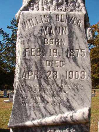 MANN, WILLIS OLIVER - Dallas County, Arkansas | WILLIS OLIVER MANN - Arkansas Gravestone Photos