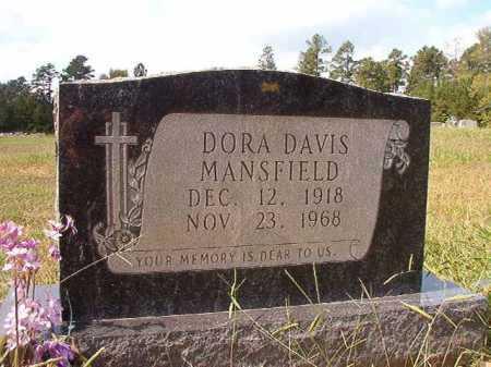 DAVIS MANSFIELD, DORA - Dallas County, Arkansas   DORA DAVIS MANSFIELD - Arkansas Gravestone Photos
