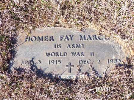 MARCUM (VETERAN WWII), HOMER FAY - Dallas County, Arkansas   HOMER FAY MARCUM (VETERAN WWII) - Arkansas Gravestone Photos