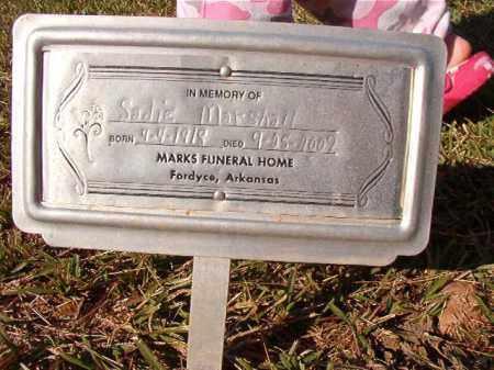 MARSHALL, SADIE - Dallas County, Arkansas | SADIE MARSHALL - Arkansas Gravestone Photos