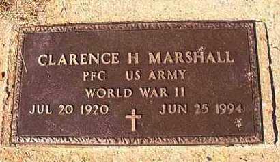 MARSHALL (VETERAN WWII), CLARENCE H - Dallas County, Arkansas | CLARENCE H MARSHALL (VETERAN WWII) - Arkansas Gravestone Photos
