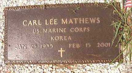 MATHEWS (VETERAN KOR), CARL LEE - Dallas County, Arkansas | CARL LEE MATHEWS (VETERAN KOR) - Arkansas Gravestone Photos