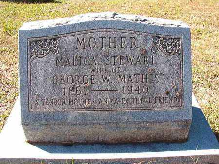 STEWART MATHIS, MALICA - Dallas County, Arkansas | MALICA STEWART MATHIS - Arkansas Gravestone Photos