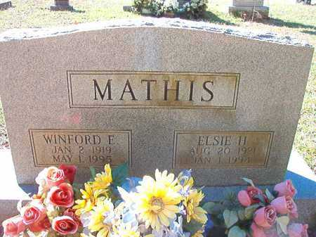 MATHIS, WINFORD E - Dallas County, Arkansas | WINFORD E MATHIS - Arkansas Gravestone Photos