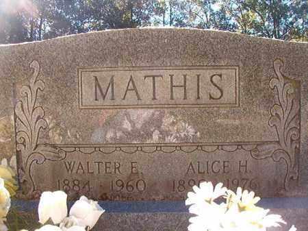 MATHIS, WALTER E - Dallas County, Arkansas | WALTER E MATHIS - Arkansas Gravestone Photos