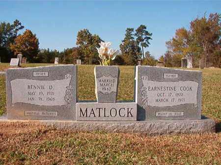 MATLOCK, BENNIE D - Dallas County, Arkansas   BENNIE D MATLOCK - Arkansas Gravestone Photos
