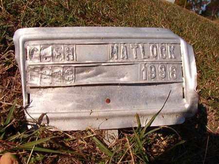 MATLOCK, GLEN - Dallas County, Arkansas | GLEN MATLOCK - Arkansas Gravestone Photos