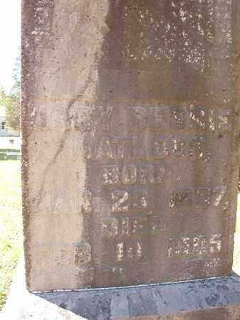 MATLOCK, MARY BESSIE - Dallas County, Arkansas   MARY BESSIE MATLOCK - Arkansas Gravestone Photos
