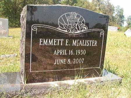 MCALISTER, EMMETT E - Dallas County, Arkansas | EMMETT E MCALISTER - Arkansas Gravestone Photos