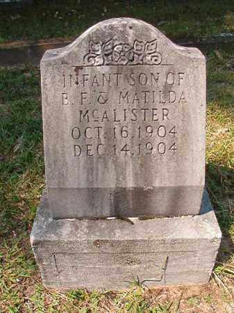 MCALISTER, INFANT SON - Dallas County, Arkansas | INFANT SON MCALISTER - Arkansas Gravestone Photos