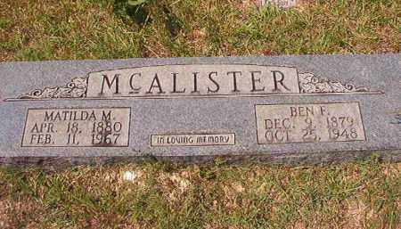 MCALISTER, MATILDA M - Dallas County, Arkansas | MATILDA M MCALISTER - Arkansas Gravestone Photos