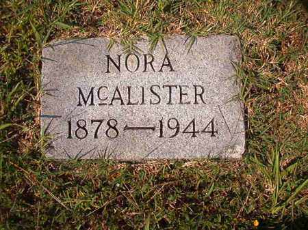 MCALISTER, NORA - Dallas County, Arkansas | NORA MCALISTER - Arkansas Gravestone Photos