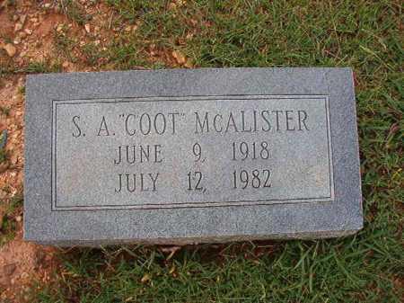 "MCALISTER, S A ""COOT"" - Dallas County, Arkansas | S A ""COOT"" MCALISTER - Arkansas Gravestone Photos"