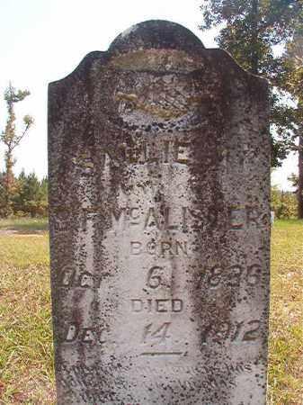 MCALISTER, SALLIE A - Dallas County, Arkansas | SALLIE A MCALISTER - Arkansas Gravestone Photos
