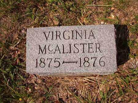 MCALISTER, VIRGINIA - Dallas County, Arkansas | VIRGINIA MCALISTER - Arkansas Gravestone Photos