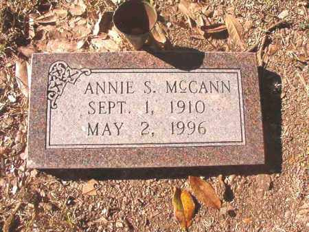 MCCANN, ANNIE S - Dallas County, Arkansas | ANNIE S MCCANN - Arkansas Gravestone Photos