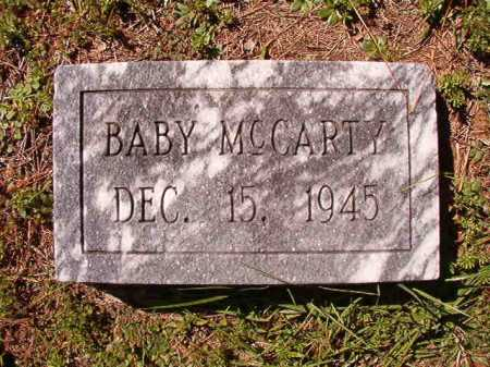 MCCARTY, BABY - Dallas County, Arkansas   BABY MCCARTY - Arkansas Gravestone Photos
