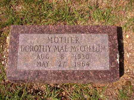 MCCOLLUM, DOROTHY MAE - Dallas County, Arkansas   DOROTHY MAE MCCOLLUM - Arkansas Gravestone Photos