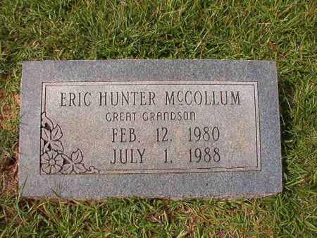 MCCOLLUM, ERIC HUNTER - Dallas County, Arkansas | ERIC HUNTER MCCOLLUM - Arkansas Gravestone Photos