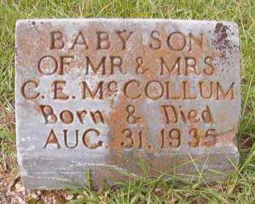 MCCOLLUM, INFANT SON - Dallas County, Arkansas | INFANT SON MCCOLLUM - Arkansas Gravestone Photos
