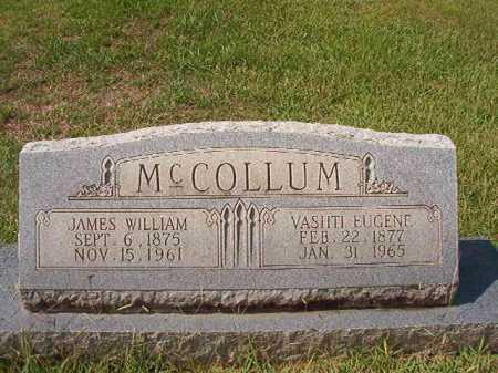 MCCOLLUM, JAMES WILLIAM - Dallas County, Arkansas | JAMES WILLIAM MCCOLLUM - Arkansas Gravestone Photos